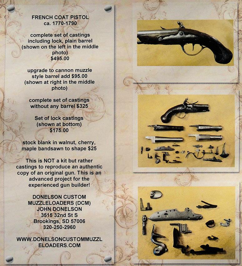 Donelson Custom Muzzleloaders Pistols